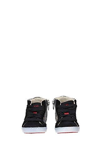 022NERO Ishikawa Sneakers Kind Wildleder Schwarz Schwarz