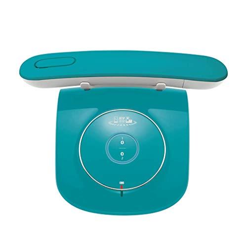 Teléfono LCSHAN Retro Vintage inalámbrico Fijo Conveniente de la Oficina inalámbrica Creativa (Color : Azul)