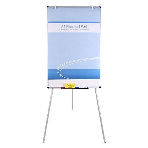 Viz-pro lavagna non magnetica - cavalletto treppiedi easy - lavagna a fogli mobili, 90 x 60 cm