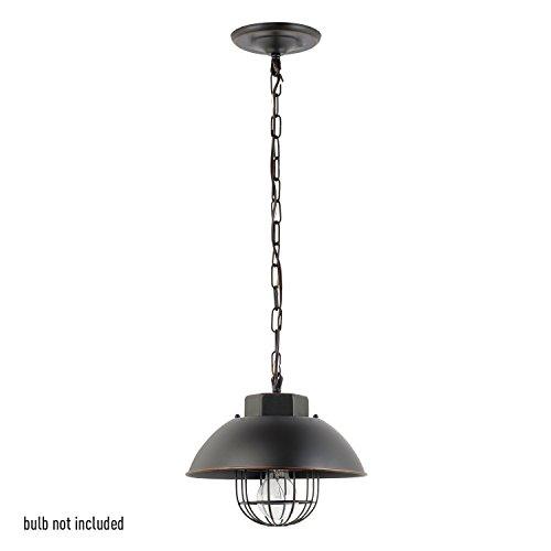 Globe Electric Luminaire Type Suspension Vintage, Haut De 25 Cm, Cage Edison Sur Ampoule, Finition Bronze Huilée, 1 Ampoule E27 De 60 W Max (Vendue Séparément)