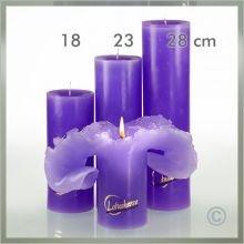 Candela Vela Lotus basic lila 28 cm
