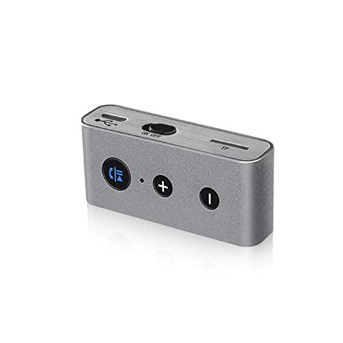 GreatFun Bluetooth-Empfänger fürs Auto, kabelloser Audio-Adapter für Musik-Streaming-Audiosystem, Bluetooth-Transmitter, für Heimmusik-Streaming-Stereo-System (mit Netzteil-Upgrade)