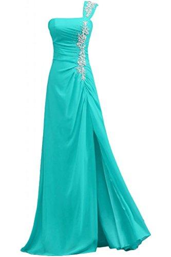 Sunvary eleganti perline A-Line un-spalla vestito da sera Pageant Dress Mint Green
