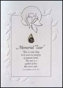 hy Card with Pewter Lapel Pin - Bereavement Loss Grief by Christian Family Jewelers ()