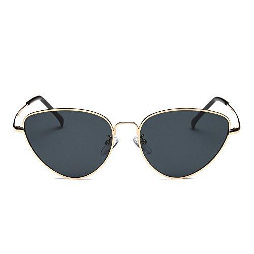 Zilosconcy Sonnenbrillen BZ Frauen Cat Eye Sonnenbrille Gold (Golden Rose Gold) Frauen Männer Sommer Vintage Retro Cat Eye Brillen Unisex ()