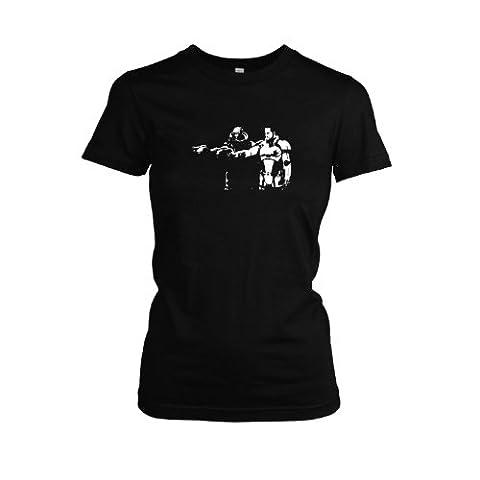 TEXLAB - Mass Fiction - Damen T-Shirt, Größe XL, schwarz