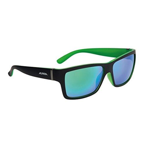 Sonnenbrille Alpina Kacey schwarz matt/grün Glas grün versp. S3