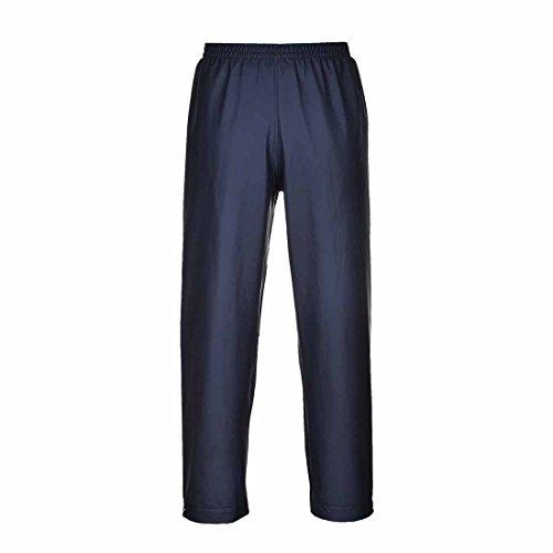 Portwest Klassische Regenhose, für Erwachsene, klassischer Schnitt, M, grau Marineblau