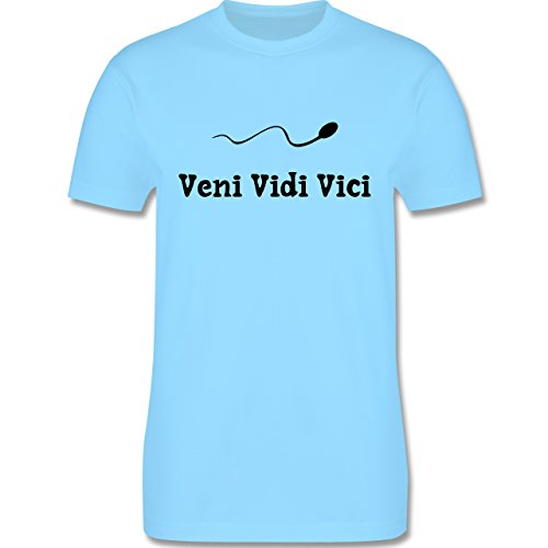 Symbole - Veni Vidi Vici - Herren Premium T-Shirt Hellblau