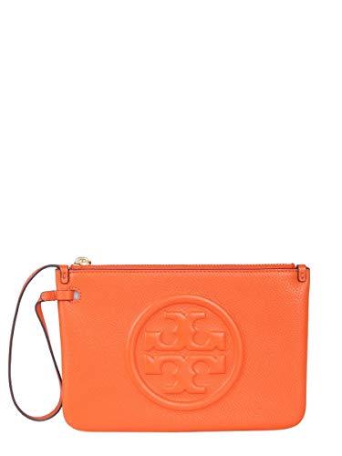 Tory Burch Damen 56356826 Orange Leder Clutch