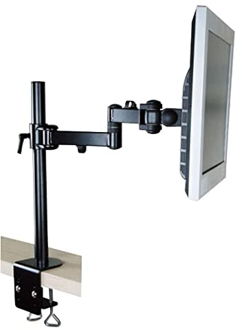 Vertical Black Cantilever Double Arm TFT Monitor LCD Desk Arm