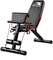Skyland Multi-functionAdjustable Weight Bench with an Extreme Elastic Rope-EM-1857