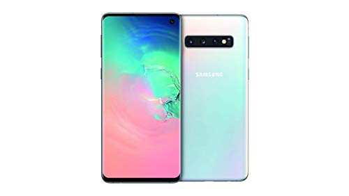Samsung Galaxy S10 Smartphone, 128GB, Display 6.1', Dual SIM,  Bianco (Prism White) [Altra Versione Europea]