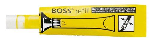 Tinte zum Nachfüllen - STABILO BOSS ORIGINAL Refill - 20er Pack - gelb