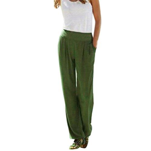 Kobay Women Trousers, Sexy Waist Wide Leg Pants Women Casual Summer Long Loose Pants