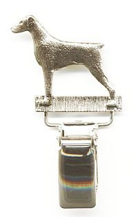 Doberman Dog Show Ring Clip/Number Holder
