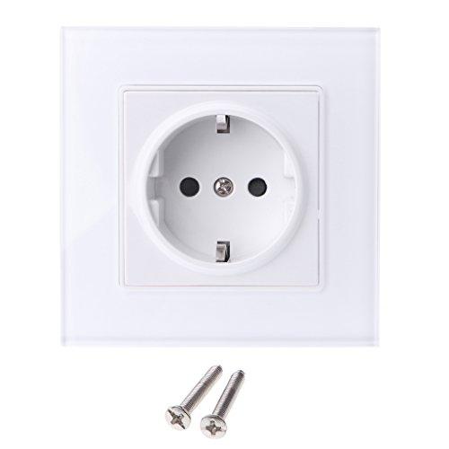 Haorw Steckdose Verteilersteckdose Adapter (Weiß)
