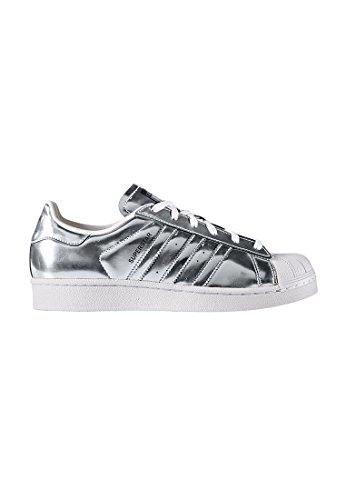 adidas Superstar W Silver Metallic Silver Metallic White Black Argento