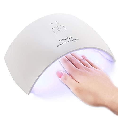 Lámpara de Uñas UV 36W, CompraFun Lámpara UV y LED Secador Profesional de Uñas, Luz Doble Sensor...