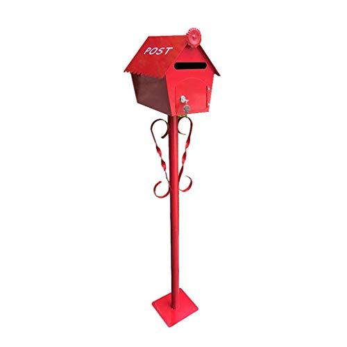 Yuang Briefkasten, Cottage Pole Mailbox Dekorative Fotografie Requisiten Villa Garden Briefkasten (Farbe: B) - Fotografie Cottage