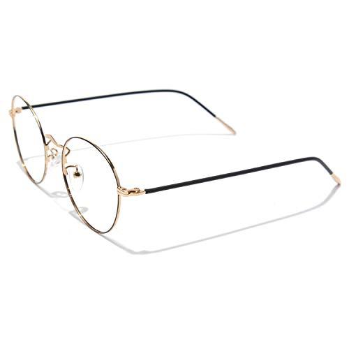 CGID Rundes Brillengestell Metall Optischer Rahmen 2019 Neue Mode nicht verschreibungspflichtige Brille für Damen und Herren, 50 mm