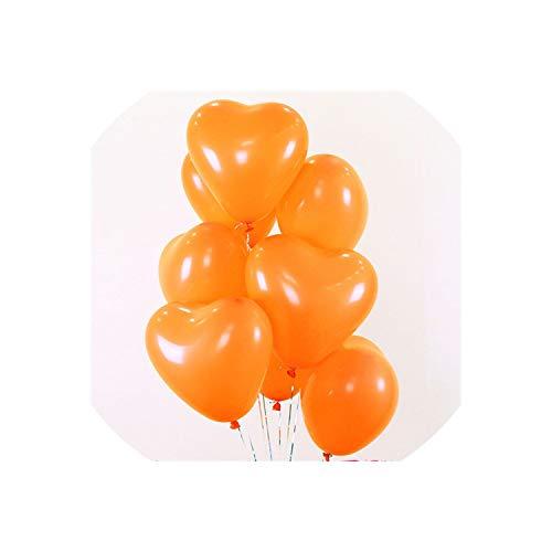 2.2g Black Latex Balloons Helium Balloon Inflatable Wedding Decorations Kids Air Balls Happy Birthday Party Balloon,B13 Orange Heart,1.5g ()