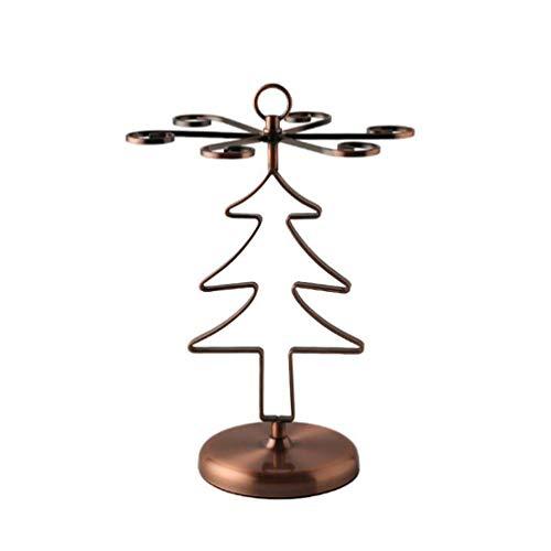 Hemoton Weihnachtsbaum form wein tasse rack tasse wäscheständer kreative weinglas aufhänger rack weinglas wäscheständer stehen für home bar restaurant (bronze) -