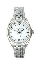 HAMILTON WOMEN'S STEEL BRACELET & CASE QUARTZ WHITE DIAL WATCH H42211155