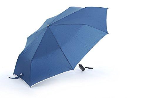 Honeystore Regenschirm 3-Falten Automatik Taschenschirm Sonnnenschirm Blau