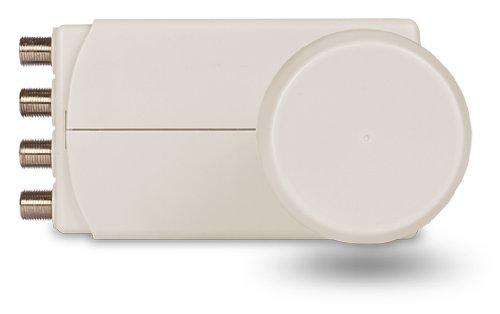 TechniSat Universal-Quattro-LNB-Signalkonverter 10,5 cm, 12,1 cm, 6,8 cm, grau