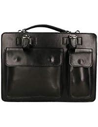 71f16b85b5 Piquot Borsa Business Satchels Bag in vera pelle made in Italy, borsa  sottile portatutto,