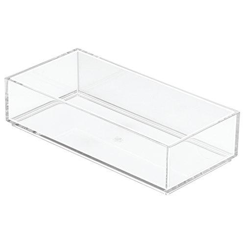 InterDesign Clarity Schubladenorganizer, extrakleiner Schubladeneinsatz aus Kunststoff für Besteck und andere Utensilien, durchsichtig (Besteck Aufbewahrungsboxen)