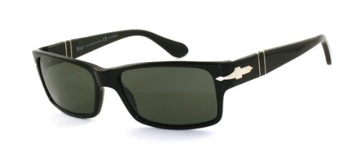 Persol PO2803S Black/Crystal Green Polarized Sunglasses (PO2803S-95-58-58-16-140)