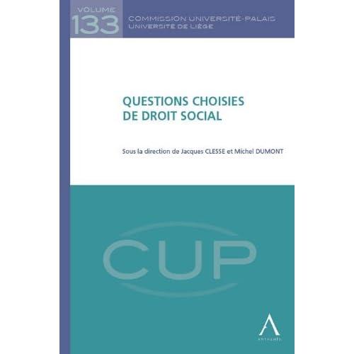 Questions Choisies de Droit Social