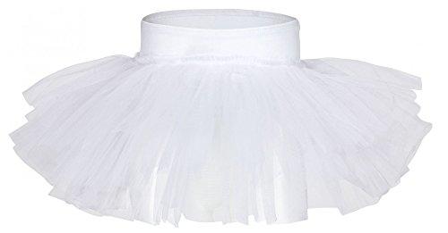 """Tutu de danse tanzmuster """"Pia"""" pour enfants - jupette ballet - 3 voiles de tulle - danse classique - Blanc - 164/170 15-16 ans"""