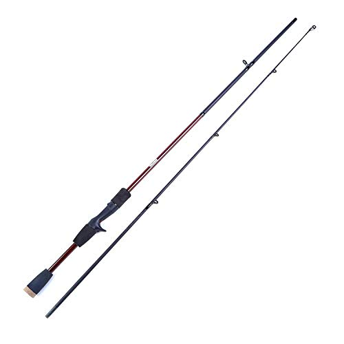 1.8M Casting Fishing Pole Rot/Blau/Grün-See Spinning Fishing Rod M Power Handangelgerät Köder-Rods, Rot, 1,8 m -