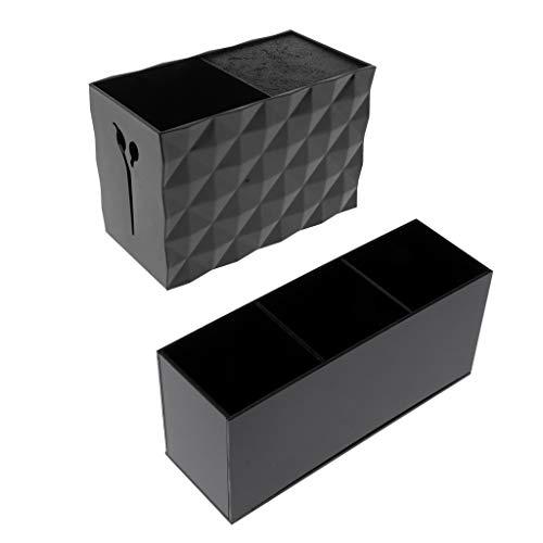 IPOTCH 2x Boîte Organisateur Maquillage Cosmétiques en Acrylique Rangements pour Produits Cosmétiques Pinceaux à maquillage