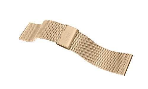 Davis B0813 - Armband Uhr Mesh Stahl Rosé Gold Milanaise Verstellbarer 22-24mm (24mm)
