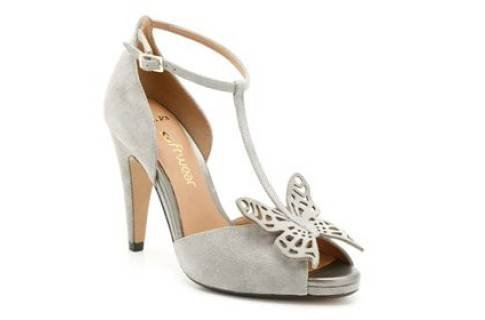 Womens Clarks Troy Curtain Silver Suede Shoes 8D (8D)