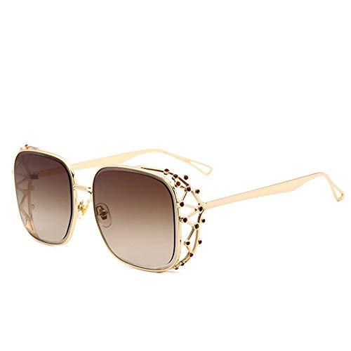 BFQCBFSG Damen Sonnenbrille Fashion Diamond Europa Daren Street Beat Sonnenbrille Retro Große Brille Urlaub Spiel Persönlichkeit Sonnenbrille, 2 *