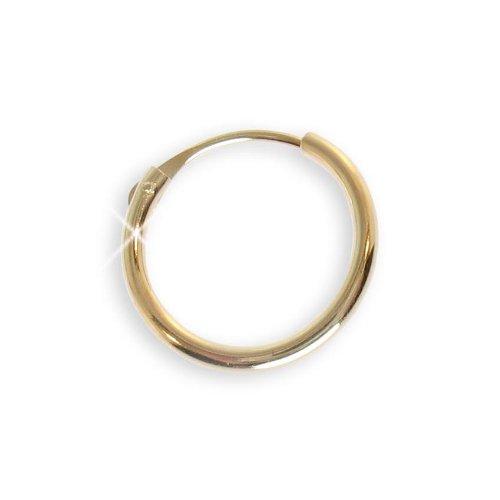 Ohrring Creole einzeln echt 14 Karat Gelbgold 585 Duchmesser 11mm (Art 602052/812058)