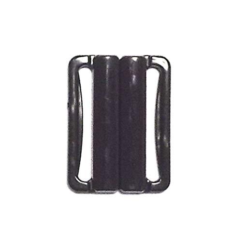 Bikiniverschluss schwarz 25 mm