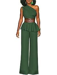 86954a912360 AnyuA Donna Tailleur Pantalone Cappotto Tuta Blazer Top 2 Pezzi Colletto  Obliquo Slim Fit Giacca e
