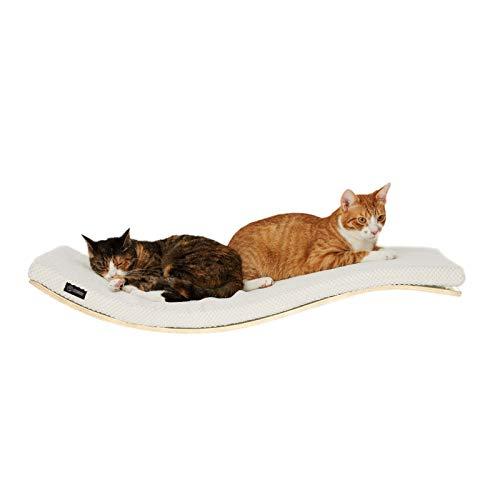 COSY AND DOZY Katze Wandliege   Katzenliege   Katzenbett   Katzen   90 cm x 41 cm   Ahorn Holz -
