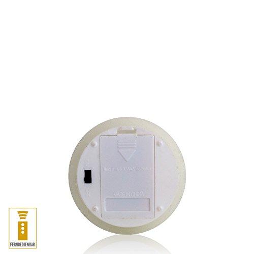 A la luz de la decoración de vela LED de cera con mando a distancia de marfil de temporizador de 7,5 x 14 cm