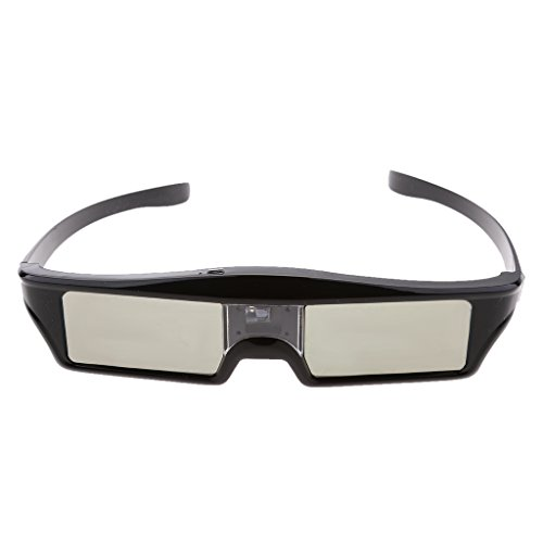 MagiDeal 2 Stk.Wiederaufladbar DLP-Link 3D Aktive Blendengläser Shutter Fernseh Brille für Optoma / BenQ TV