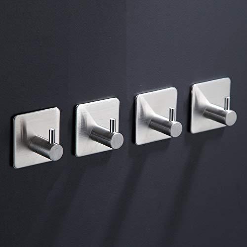 Handtuchhaken Ohne Bohren Handtuchhalter Klebehaken Edelstahl Bad und Küche 4 Stück ()
