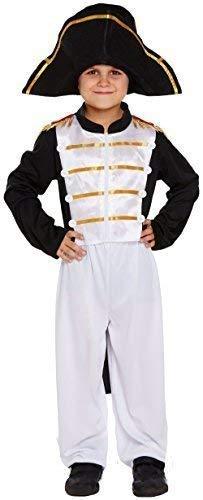 Fancy me bambini ragazzi pirata ufficiale napoleone festa del libro occupazione job militare navale carnevale costume vestito 4-12 anni - 4-6 years