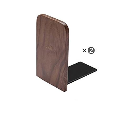Style européen en bois Creative livre bloc en bois massif livre par livre se livre Dossier étudiants Bibliothèque (2 pièces/Set),le chef de noyer noir,13 * 8 * 10.5cm