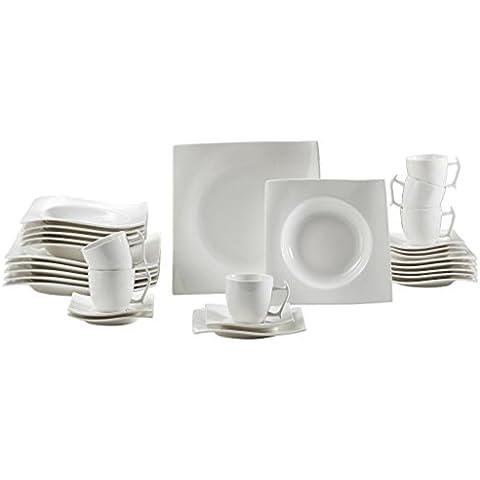 Maxwell & Williams RP00930 - Vajilla en caja de regalo, porcelana, 30 piezas, color blanco